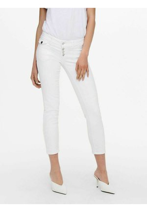 ANKLE BUTTON - Jeans Skinny Fit - white