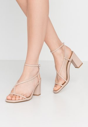 HARPER STRAPPY HEEL - Sandals - pale taupe