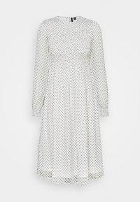 Vero Moda Petite - VMSIFFY SMOCK CALF DRESS  - Jurk - snow white/black - 0