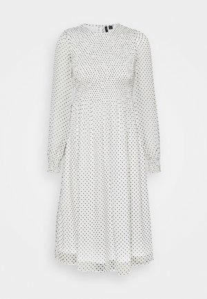 VMSIFFY SMOCK CALF DRESS  - Day dress - snow white/black