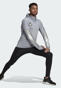 adidas Performance - SPACE PRIMEGREEN SWEATSHIRT HOODIE RUNNING - Hoodie - grey - 1