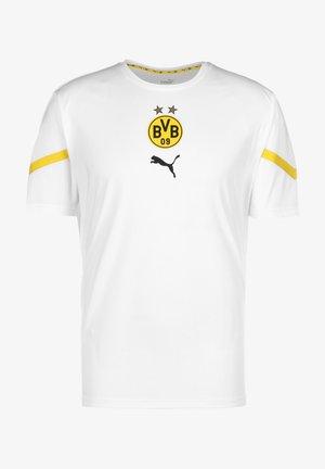T-shirt sportiva - puma white / cyber yellow