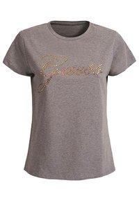 Guess - GUESS T-SHIRT LOGO APPLIKATIONEN - Print T-shirt - hellgrau - 0