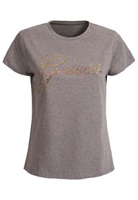 GUESS T-SHIRT LOGO APPLIKATIONEN - Print T-shirt - hellgrau