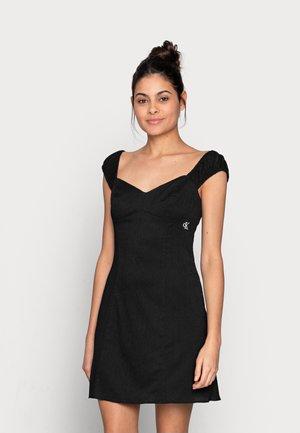 TEXTURED DRAPEY DRESS - Day dress - black