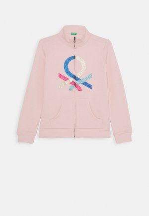 BASIC GIRL - veste en sweat zippée - light pink