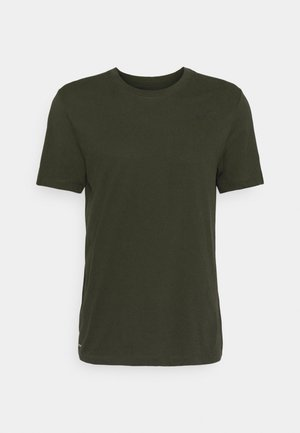 TEE CREW SOLID - T-Shirt basic - sequoia/black