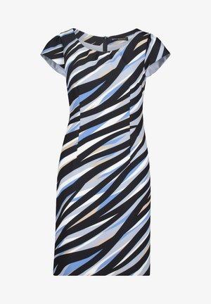 Shift dress - dark blue/beige
