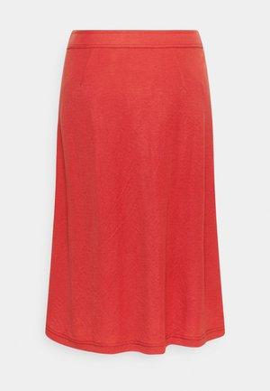 A-line skirt - metallic red