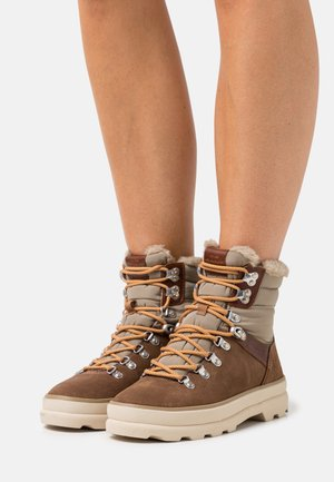 FRENNY - Lace-up ankle boots - warm khaki