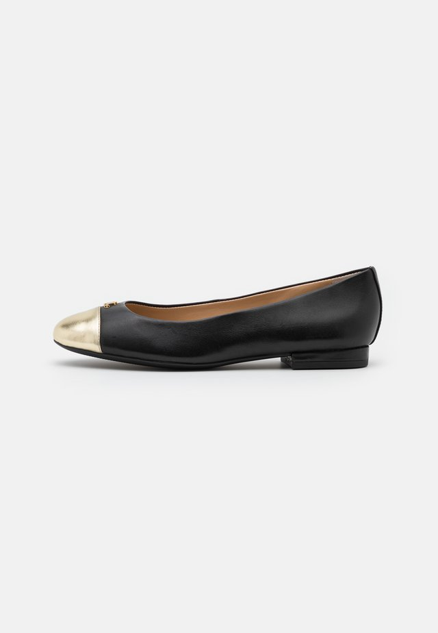 Ballerines - black/pale gold