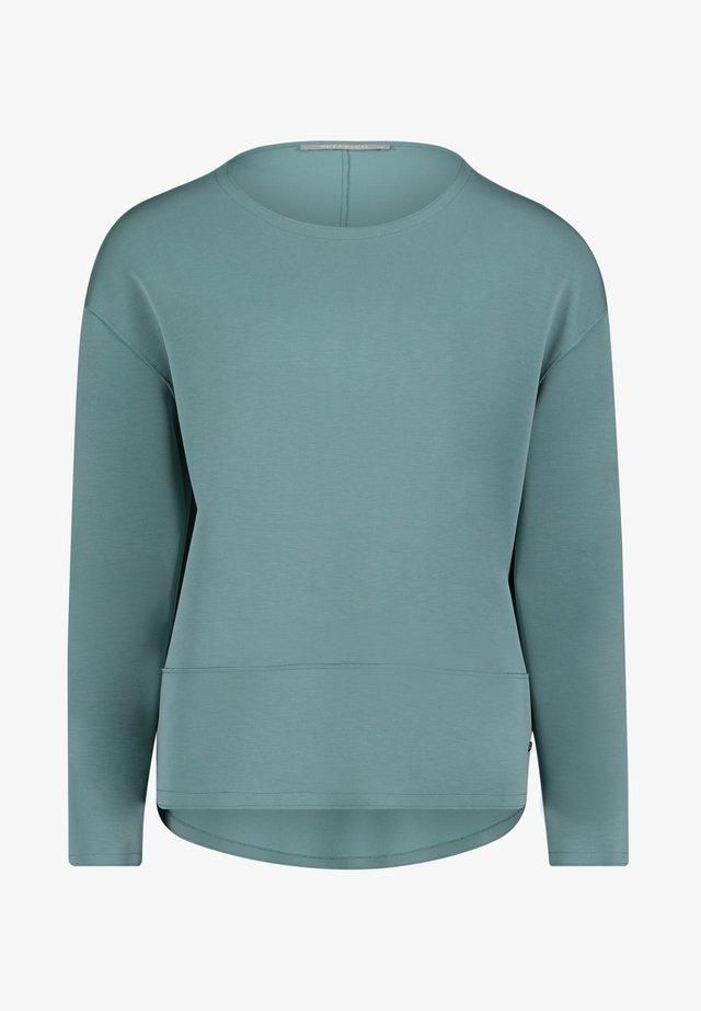 MIT RUNDHALSAUSSCHNITT - Sweatshirt - mineral blue