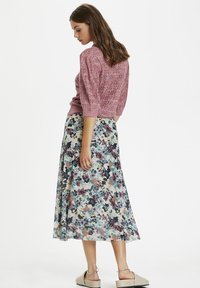 Soaked in Luxury - A-line skirt - vivid floral print white - 3