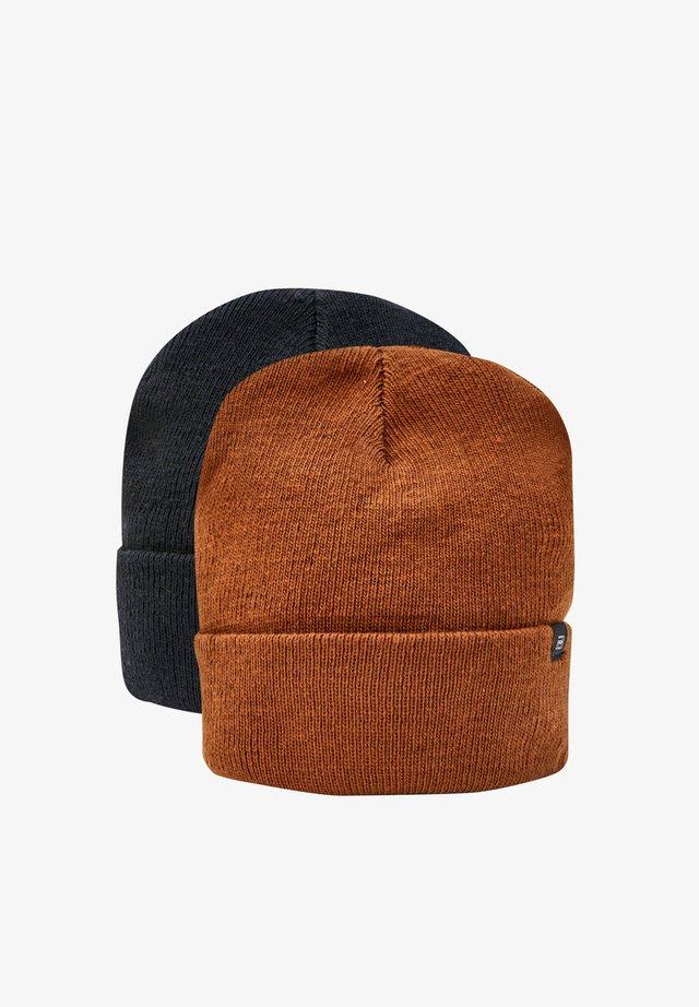 2 PACK - Čepice - brown