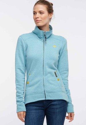 Zip-up hoodie - turquoise melange