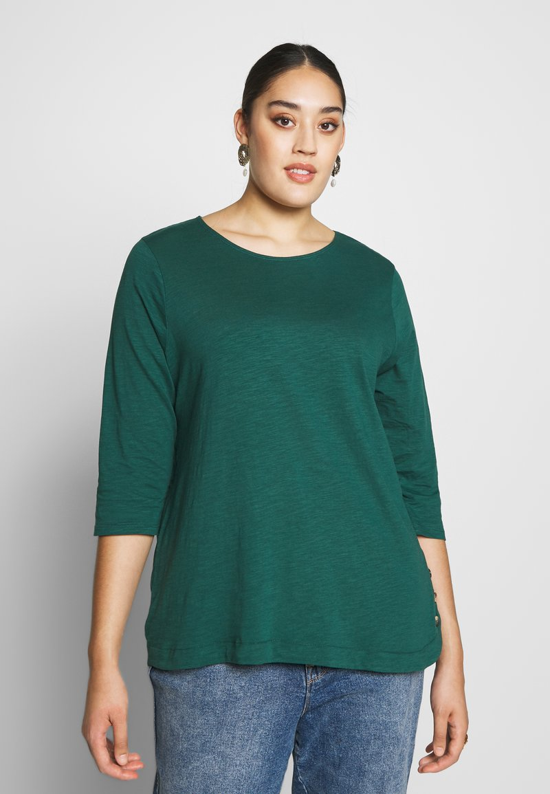 New Look Curves - SIDE BUTTON - Longsleeve - dark green