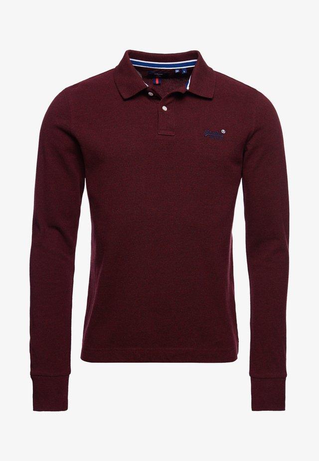 Polo - deepest burgundy grit