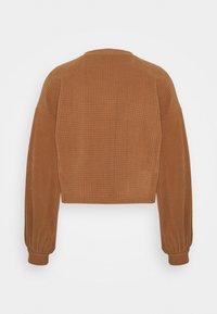 Vero Moda - VMWAFFLE  - Sweatshirt - tawny brown - 1