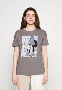 ONLY - ONLDISNE LIFE SPLIT - Camiseta estampada - steel gray - 0