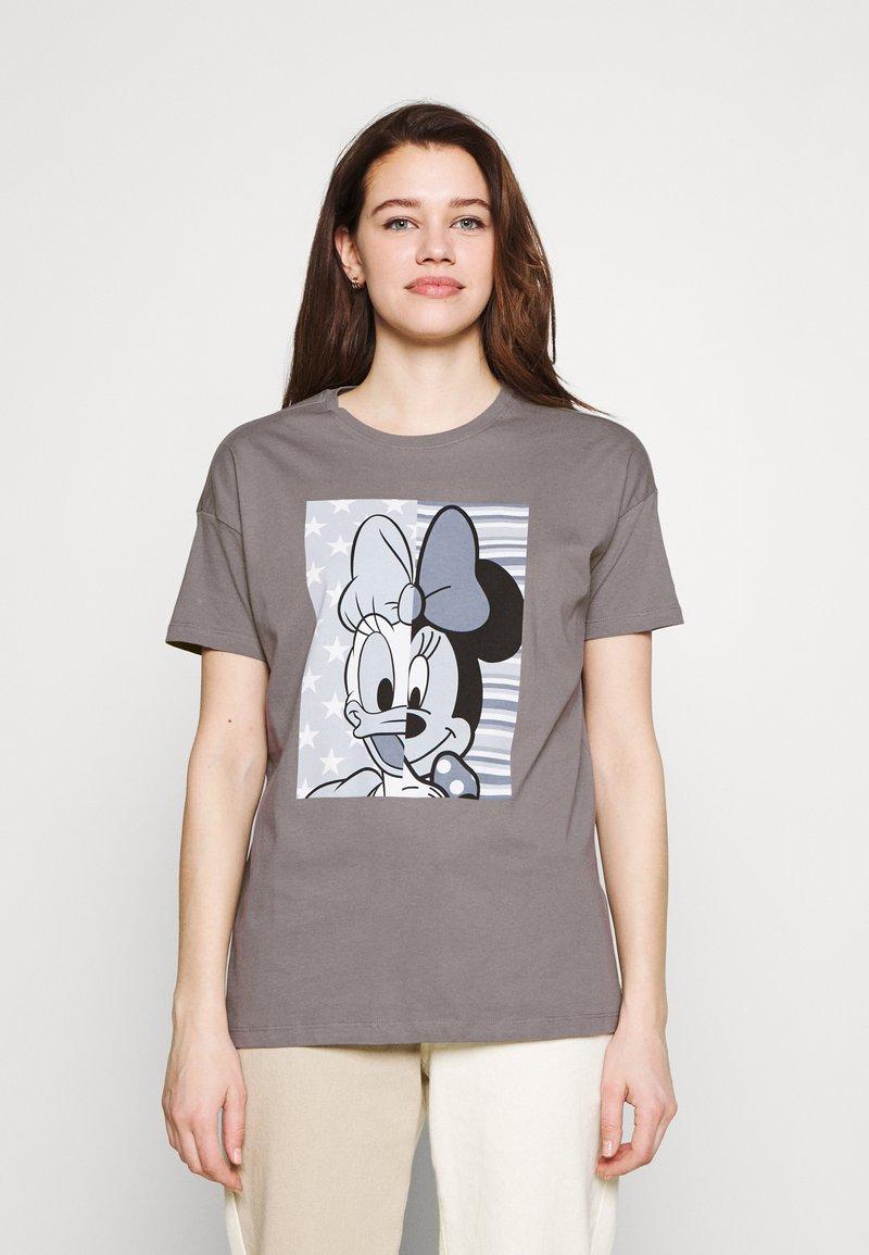ONLY - ONLDISNE LIFE SPLIT - Camiseta estampada - steel gray