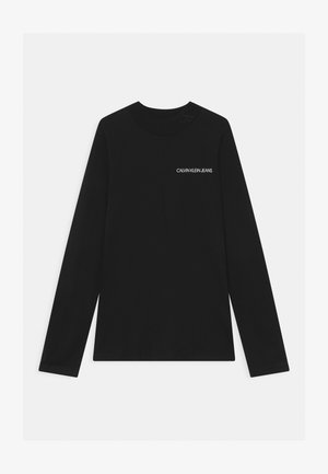 LOGO NECK  - Longsleeve - black