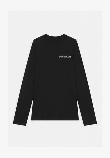 LOGO NECK  - Långärmad tröja - black