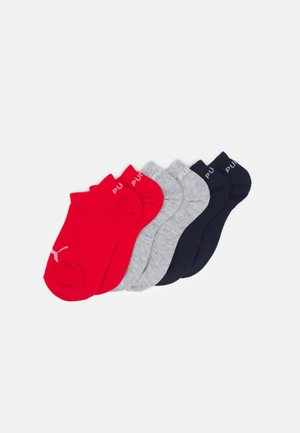 KIDS INVISIBLE 6 PACK UNISEX - Socks - white/blue/red