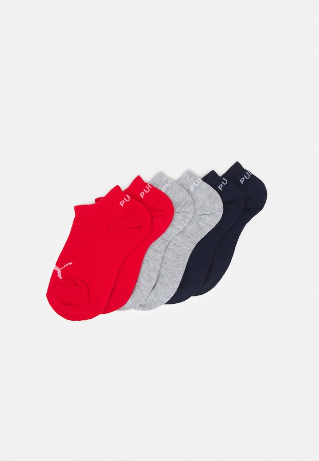 KIDS INVISIBLE 6 PACK UNISEX - Socken - white/blue/red