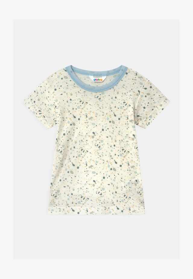 UNISEX - Print T-shirt - off-white/light blue