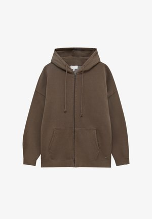 MIT KAPUZE - Bluza rozpinana - mottled brown