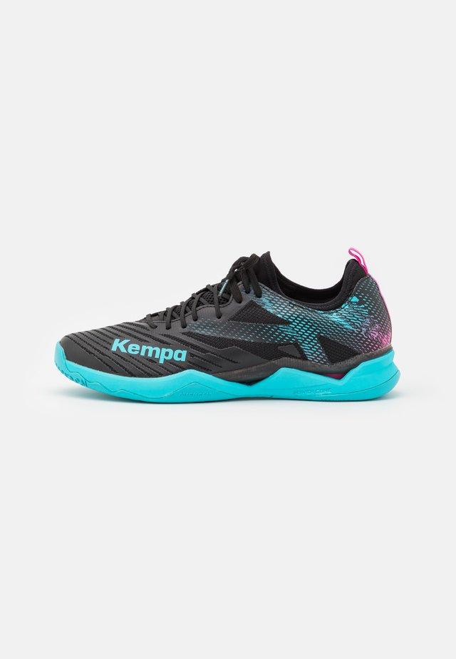 WING LITE 2.0 - Handball shoes - black/aqua
