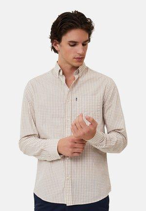 Skjorte - beige/white check