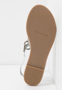 Tamaris - T-bar sandals - white - 6