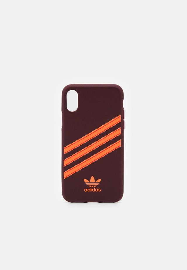 Phone case - maroon/solar orange