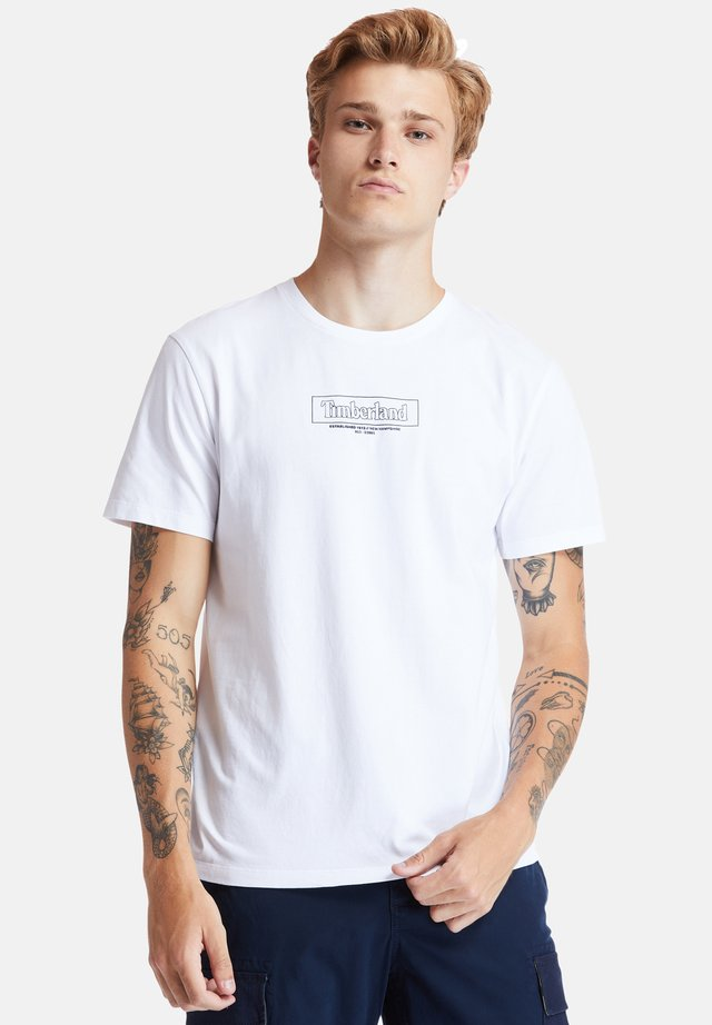 KENNEBEC RIVER - T-shirt con stampa - white