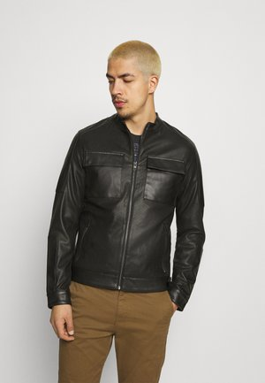 JCOCOOPER - Faux leather jacket - black