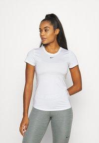 Nike Performance - ONE SLIM - T-shirt basic - white/black - 0