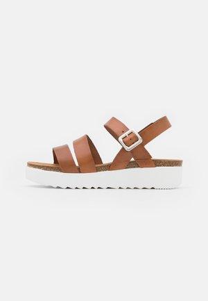 ERINA - Platform sandals - whisky
