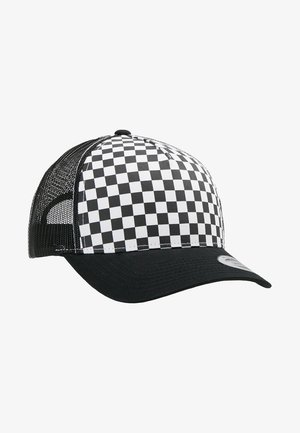 CHECKERBOARD RETRO TRUCKER - Cap - black/white