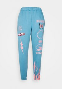 Missguided - BUTTERFLY - Tracksuit bottoms - blue - 0