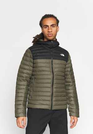 STRETCH HOODIE - Down jacket - new taupe green/black