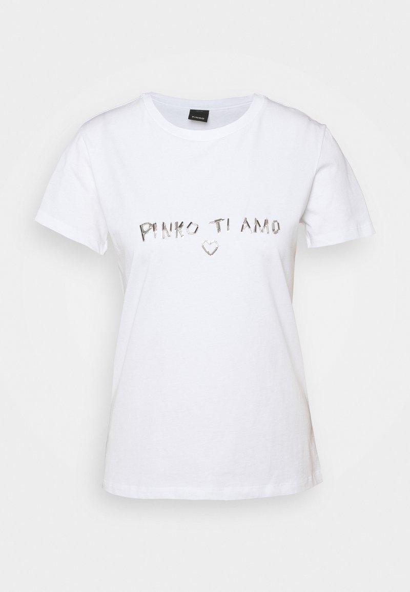 Pinko - ARNOLD  - Print T-shirt - white
