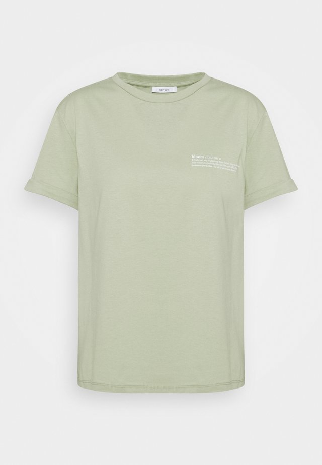 SERZ BLOOM - T-shirt imprimé - pistachio