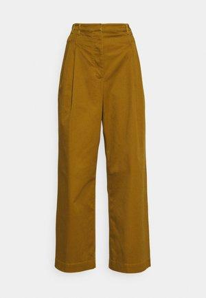 WIDE LEG PANTS - Trousers - olive