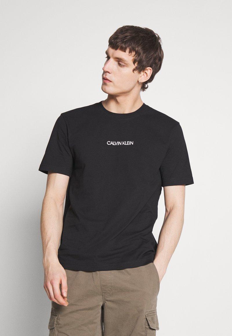 Calvin Klein - SHADOW LOGO  - Printtipaita - black