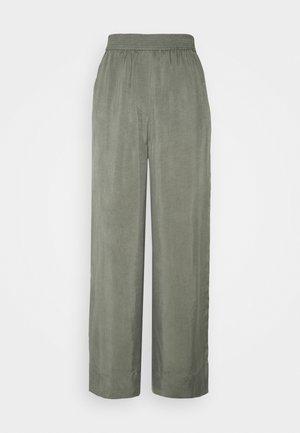 WIDE LEGGED TROUSER - Trousers - khaki green/dusty light