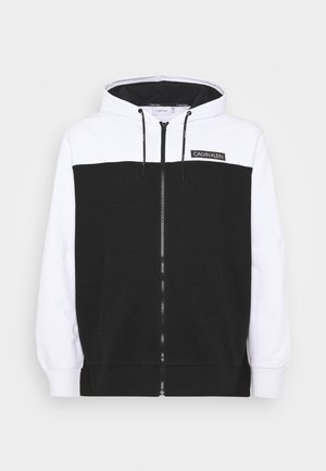 COLOR BLOCK ZIP HOODIE - Huvtröja med dragkedja - black