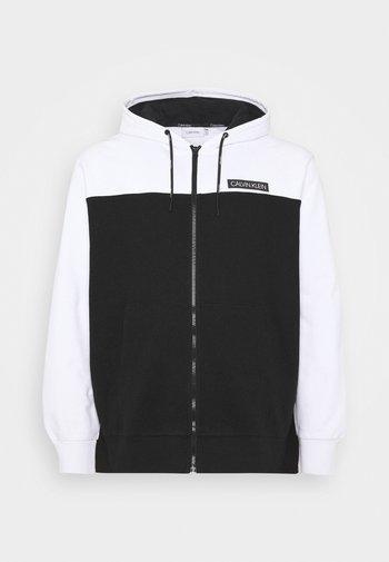 COLOR BLOCK ZIP HOODIE - Zip-up sweatshirt - black