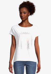 Cartoon - Print T-shirt - white gold - 0