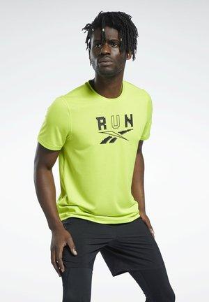 RUNNING ESSENTIALS GRAPHIC SPEEDWICK REECYCLED - Print T-shirt - yellow
